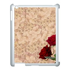 Retro Background Scrapbooking Paper Apple Ipad 3/4 Case (white)