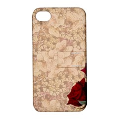 Retro Background Scrapbooking Paper Apple Iphone 4/4s Hardshell Case With Stand