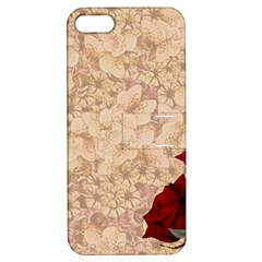 Retro Background Scrapbooking Paper Apple Iphone 5 Hardshell Case With Stand