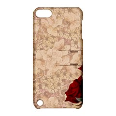 Retro Background Scrapbooking Paper Apple Ipod Touch 5 Hardshell Case With Stand