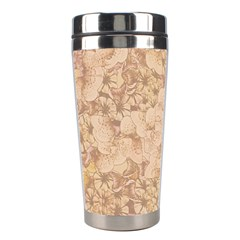 Retro Background Scrapbooking Paper Stainless Steel Travel Tumblers