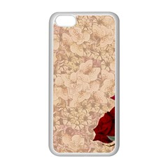 Retro Background Scrapbooking Paper Apple Iphone 5c Seamless Case (white)