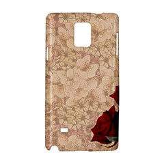 Retro Background Scrapbooking Paper Samsung Galaxy Note 4 Hardshell Case