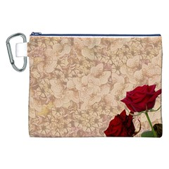 Retro Background Scrapbooking Paper Canvas Cosmetic Bag (xxl)