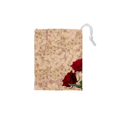 Retro Background Scrapbooking Paper Drawstring Pouches (xs)