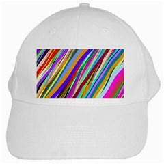 Multi Color Tangled Ribbons Background Wallpaper White Cap