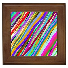 Multi Color Tangled Ribbons Background Wallpaper Framed Tiles