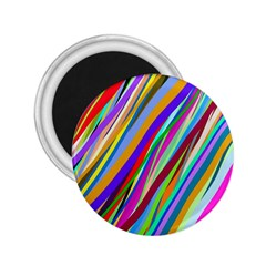 Multi Color Tangled Ribbons Background Wallpaper 2 25  Magnets