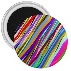 Multi Color Tangled Ribbons Background Wallpaper 3  Magnets