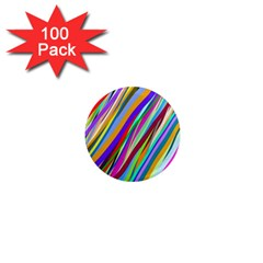 Multi Color Tangled Ribbons Background Wallpaper 1  Mini Magnets (100 pack)