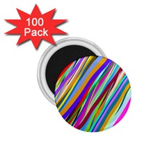 Multi Color Tangled Ribbons Background Wallpaper 1 75  Magnets (100 Pack)
