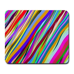 Multi Color Tangled Ribbons Background Wallpaper Large Mousepads