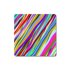 Multi Color Tangled Ribbons Background Wallpaper Square Magnet