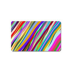 Multi Color Tangled Ribbons Background Wallpaper Magnet (Name Card)