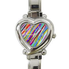 Multi Color Tangled Ribbons Background Wallpaper Heart Italian Charm Watch