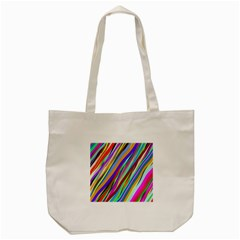 Multi Color Tangled Ribbons Background Wallpaper Tote Bag (cream)