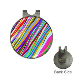 Multi Color Tangled Ribbons Background Wallpaper Hat Clips With Golf Markers