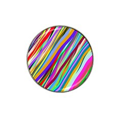 Multi Color Tangled Ribbons Background Wallpaper Hat Clip Ball Marker (10 Pack)