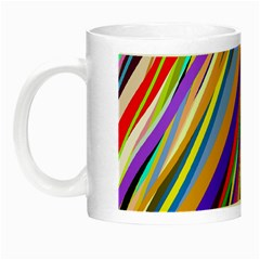 Multi Color Tangled Ribbons Background Wallpaper Night Luminous Mugs