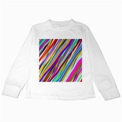 Multi Color Tangled Ribbons Background Wallpaper Kids Long Sleeve T-Shirts