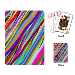 Multi Color Tangled Ribbons Background Wallpaper Playing Card