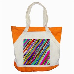 Multi Color Tangled Ribbons Background Wallpaper Accent Tote Bag