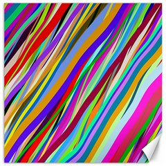 Multi Color Tangled Ribbons Background Wallpaper Canvas 12  X 12
