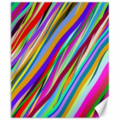 Multi Color Tangled Ribbons Background Wallpaper Canvas 20  x 24