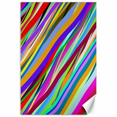 Multi Color Tangled Ribbons Background Wallpaper Canvas 24  x 36