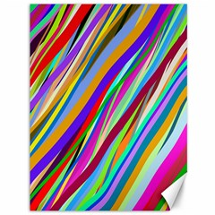 Multi Color Tangled Ribbons Background Wallpaper Canvas 36  X 48