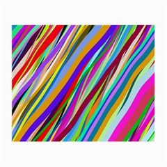 Multi Color Tangled Ribbons Background Wallpaper Small Glasses Cloth (2 Side)