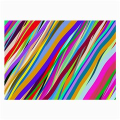 Multi Color Tangled Ribbons Background Wallpaper Large Glasses Cloth