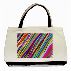 Multi Color Tangled Ribbons Background Wallpaper Basic Tote Bag (two Sides)