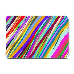 Multi Color Tangled Ribbons Background Wallpaper Small Doormat