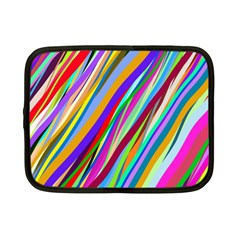 Multi Color Tangled Ribbons Background Wallpaper Netbook Case (small)