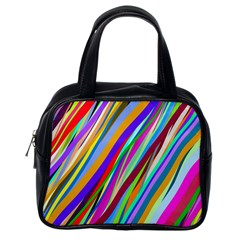 Multi Color Tangled Ribbons Background Wallpaper Classic Handbags (one Side)