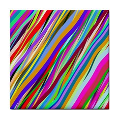 Multi Color Tangled Ribbons Background Wallpaper Face Towel