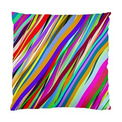 Multi Color Tangled Ribbons Background Wallpaper Standard Cushion Case (one Side)
