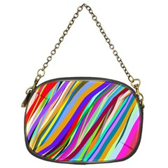 Multi Color Tangled Ribbons Background Wallpaper Chain Purses (two Sides)