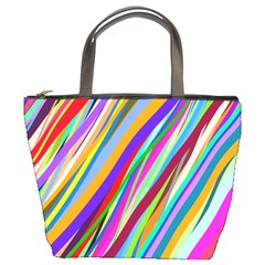 Multi Color Tangled Ribbons Background Wallpaper Bucket Bags