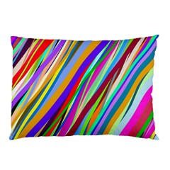 Multi Color Tangled Ribbons Background Wallpaper Pillow Case