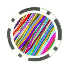 Multi Color Tangled Ribbons Background Wallpaper Poker Chip Card Guard (10 Pack)