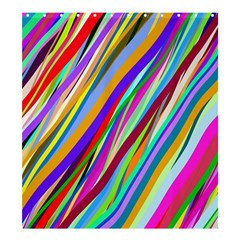 Multi Color Tangled Ribbons Background Wallpaper Shower Curtain 66  X 72  (large)