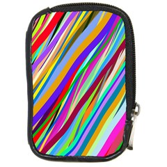 Multi Color Tangled Ribbons Background Wallpaper Compact Camera Cases