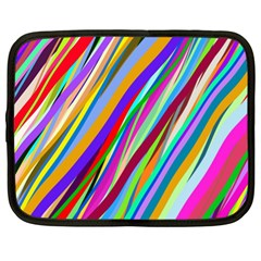 Multi Color Tangled Ribbons Background Wallpaper Netbook Case (xl)