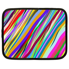 Multi Color Tangled Ribbons Background Wallpaper Netbook Case (XXL)
