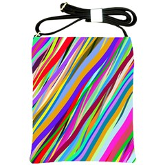 Multi Color Tangled Ribbons Background Wallpaper Shoulder Sling Bags