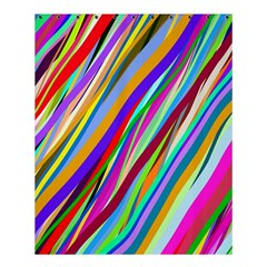 Multi Color Tangled Ribbons Background Wallpaper Shower Curtain 60  X 72  (medium)