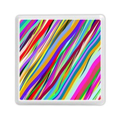 Multi Color Tangled Ribbons Background Wallpaper Memory Card Reader (square)