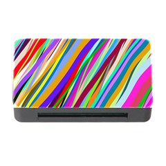 Multi Color Tangled Ribbons Background Wallpaper Memory Card Reader With Cf